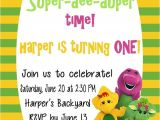 Free Personalized Barney Birthday Invitations Free Printable Barney Birthday Party Invitations Home