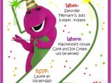 Free Personalized Barney Birthday Invitations Items Similar to Barney Birthday Invitations On Etsy