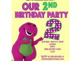 Free Personalized Barney Birthday Invitations Number Barney Birthday Invitations Personalized Invites
