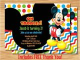 Free Personalized Mickey Mouse Birthday Invitations Custom Mickey Mouse Birthday Invitation Mickey by