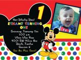 Free Personalized Mickey Mouse Birthday Invitations Free Printable 1st Mickey Mouse Birthday Invitations
