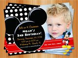 Free Personalized Mickey Mouse Birthday Invitations Mickey Mouse Birthday Invitation Printable Birthday Party