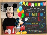 Free Personalized Mickey Mouse Birthday Invitations Mickey Mouse Invitation Birthday Mickey Mouse 1st Birthday