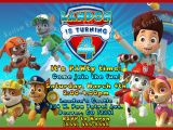 Free Personalized Paw Patrol Birthday Invitations Birthday Invitation Card Paw Patrol Birthday Invitations