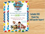 Free Personalized Paw Patrol Birthday Invitations Custom Made Paw Patrol Birthday Invitation Paw by