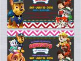 Free Personalized Paw Patrol Birthday Invitations Paw Patrol Birthday Invitations Free Printables