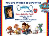 Free Personalized Paw Patrol Birthday Invitations Paw Patrol Birthday Party Invitations Personalized Custom