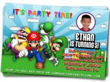 Free Personalized Super Mario Birthday Invitations Birthday Invites Free Download top 10 Mario Birthday