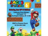 Free Personalized Super Mario Birthday Invitations Birthday Party Invitations New Super Mario Birthday