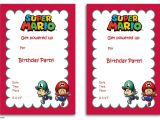 Free Personalized Super Mario Birthday Invitations Free Printable Super Mario Bros Invitation Template