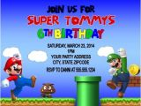 Free Personalized Super Mario Birthday Invitations Super Mario & Luigi Birthday Party Invitations