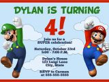 Free Personalized Super Mario Birthday Invitations Super Mario Birthday Invitations – Bagvania Free Printable