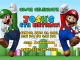 Free Personalized Super Mario Birthday Invitations Super Mario Brothers Personalized Birthday Invitation Ad