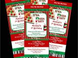 Free Pizza Party Invitation Template 4 Best Images Of Pizza Printable Pattern Pizza Free