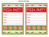 Free Pizza Party Invitation Template Free Pizza Party Printables From Printabelle Catch My Party