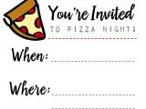 Free Pizza Party Invitation Template Pizza Night Invites