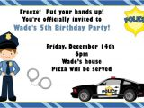 Free Police Party Invitation Templates Boy Police Birthday Party Invitations by