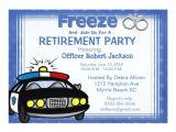 Free Police Party Invitation Templates Female Retirement Invitation orderecigsjuice Info