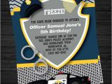 Free Police Party Invitation Templates Police Birthday Invitation Printable by Twirlydesigns On Etsy