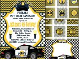 Free Police Party Invitation Templates Police Birthday Invite with Free Cupcake Tags Favor Tags