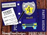 Free Police Party Invitation Templates Printable Police Birthday Invitation Photo Police Car
