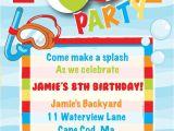 Free Pool Party Invitation Ideas Pool Party Birthday Invitation Boy