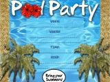 Free Pool Party Invitations Free Kids Party Invitations Pool Party Invitation
