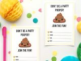 Free Poop Emoji Birthday Invitations Emoji Party Ideas and Colorful Printables
