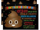 Free Poop Emoji Birthday Invitations Funny Poop Emoji Birthday Party Invitation