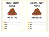 Free Poop Emoji Birthday Invitations Party