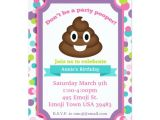 Free Poop Emoji Birthday Invitations Poop Emoji Girl Birthday Invitation
