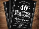 Free Printable 40th Birthday Party Invitation Templates 25 40th Birthday Invitation Templates Free Sample