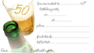 Free Printable 50th Birthday Invitations Free Printable 50th Birthday Invitations