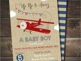 Free Printable Airplane Baby Shower Invitations Airplane Baby Shower Invitation with Free by