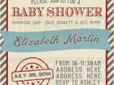 Free Printable Airplane Baby Shower Invitations Old Vintage Airplane Baby Shower Invitation Printable