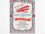 Free Printable Airplane Baby Shower Invitations Vintage Airplane Baby Shower Invitation Plane Baby Shower