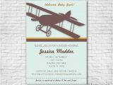 Free Printable Airplane Baby Shower Invitations Vintage Airplane Baby Shower Invitation Printable or