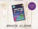 Free Printable Alien Birthday Invitations Free Printable Space Alien Birthday Party Invitations