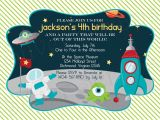 Free Printable Alien Birthday Invitations Outer Space Custom Digital Birthday Party Invitation