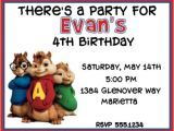 Free Printable Alvin and the Chipmunks Birthday Invitations Birthday Party Invitations Amazing Alvin and the
