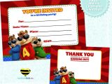Free Printable Alvin and the Chipmunks Birthday Invitations Free Printable Alvin the Chipmunks Birthday Invitation