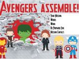 Free Printable Avengers Birthday Party Invitations 7 Best Images Of Free Avengers Printable Birthday