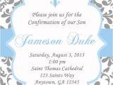 Free Printable Baby Boy Baptism Invitations Boys Baptism Invitation Damask Baby Dedication First