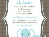 Free Printable Baby Shower Invitation Templates Printable Baby Shower Invitation Elephant Boy Light Blue