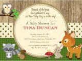 Free Printable Baby Shower Invitations Woodland Animals Woodland Animals forest Baby Shower Invitation Printable