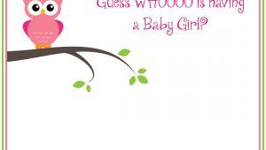 Free Printable Baby Shower Invites for Girl Free Printable Girl S Owl Baby Shower Invitations
