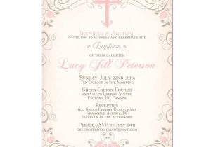 Free Printable Baptism Invitations Cards Printable Baby Girl Baptism Invitation by