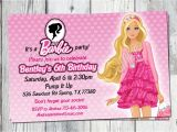Free Printable Barbie Birthday Party Invitations Barbie Birthday Invitation Printable Doll by Partyprintouts