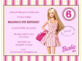 Free Printable Barbie Birthday Party Invitations Barbie Birthday Invitation Templates