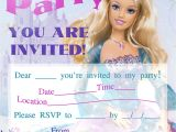 Free Printable Barbie Birthday Party Invitations Barbie Birthday Invitations Template